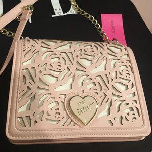 NWT Baby Pink Betsey Johnson Roses Handbag
